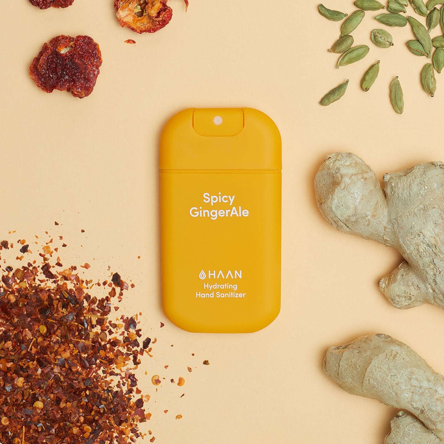 Haan Pocket niisutav käte desinfitseerimisvahend Spicy Gingerale 4